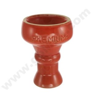 "DISC Premium Hookah Ceramic Top 3"" Bowl Red"
