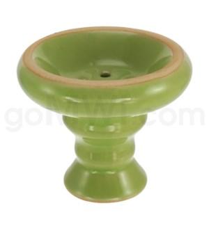 "Hookah Ceramic 2.5"" Wide Bowl Green"