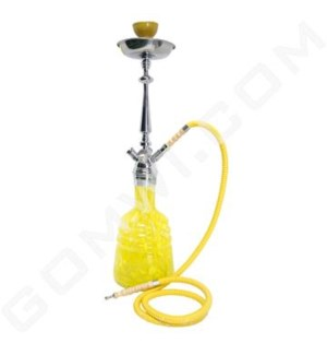 "DISC Hookah 1-HS 24"" Zahrah YELLOW"