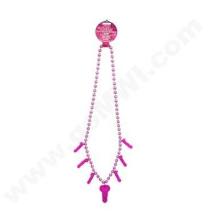 Pink Pecker Party Whistle Necklace