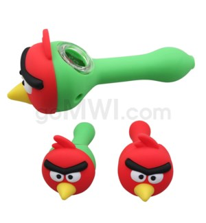 "Silicone 4.5"" Spoon Face Bird"
