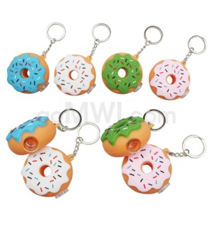 "Silicone 2"" Donut Keychain Pipe - Assorted Colors"