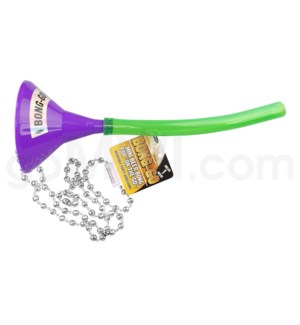 Head Rush Bong Go - Purple Funnel w/ Green Tube