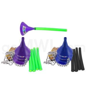 Head Rush Bong Go - Blue Funnel w/ Black Tube (KIT0022)