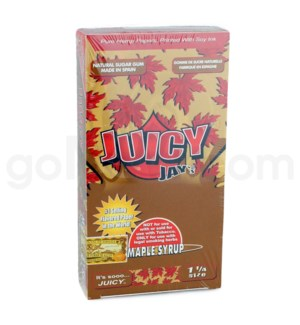 Juicy Jay's 1 1/4'' Rolling Paper -Maple 32/pk 24ct/bx