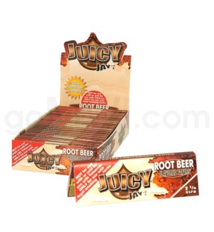 "Juicy Jay's 1 1/4"" Rolling Papers- Root Beer 32/pk 24ct/bx"