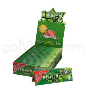 Juicy Jay's 1 1/4'' Rolling Paper -Green Apple 32/pk 24ct/bx