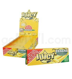 Juicy Jay's 1 1/4'' Rolling Paper -Banana 32/pk 24ct/bx