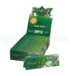 Juicy Jay's 1 1/4'' Rolling Paper -Cool Jays 32/pk 24ct/bx