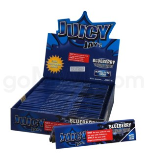 Juicy Jay's KS Rolling Paper -Blueberry 32/pk 24ct/bx