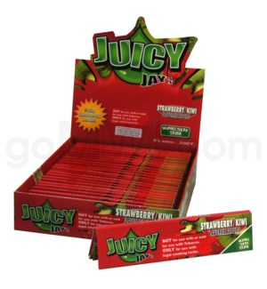 Juicy Jay's KS Rolling Paper-Strawberry/Kiwi 32/pk 24ct/bx