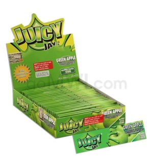 Juicy Jay's KS Rolling Paper - Green Apple 32/pk 24ct/bx