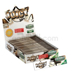 Juicy Jay's KS Rolling Paper - Coconut 32/pk 24ct/bx