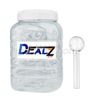 "KIT GOB1 Dealz Oil burner 4"" Heavy Wall Clear 60ct"