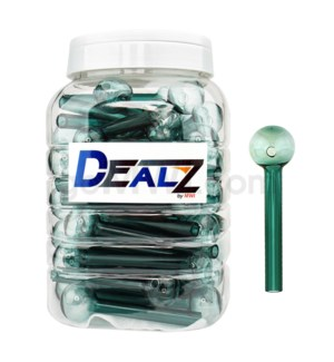 "Kit GOB1C6 Dealz Oil burner 4"" Heavy Wall Turquoise 60ct"