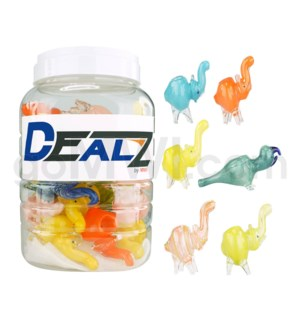 """Kit-AN-MIX I/O 2.5"""" Animal Pipe Assorted-Asst. Colors (25ct)"""