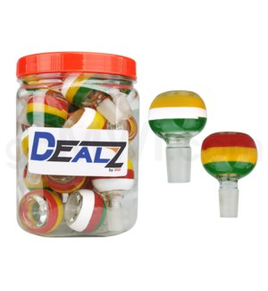 Kit: BW416 GOG 14mm Bowl Asst. Rasta Designs (25ct)