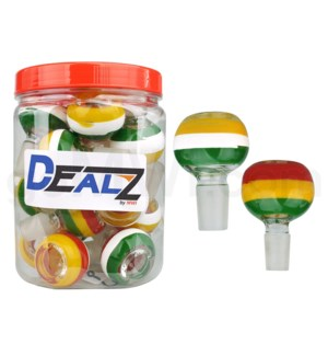 Kit: BW416-2 GOG 19mm Bowl Asst. Rasta Designs (20ct)