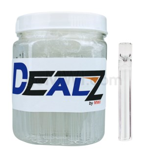 """Kit: GB15-S Glass Bat 2"""" Clear Pipe Small (50ct)"""