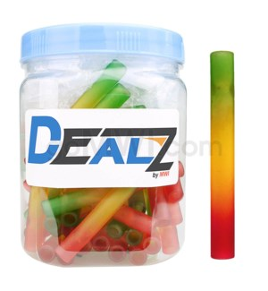 "Kit: GB22 3"" Glass Bat Frosted Rasta Tie Dye (50ct)"