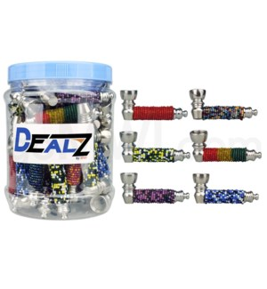 Kit:MHP1446 Metal Hand Pipe w/ Beads Asst 45ct