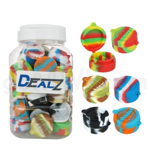 """Kit:SIL102 1.5"""" Silicone Cosmetic Container- Asst Swirls 40c"""