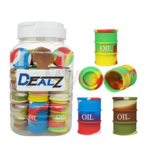 """Kit:SIL105 1.5"""" Silicone Oil Barrel Swirls - Asst Colors 20c"""