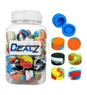 """Kit: SIL100 1.25"""" 6ml Silicone Container Swirls - Asst (50ct)"""