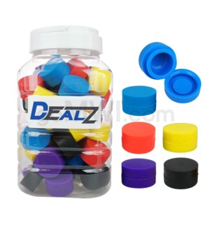 """Kit: SIL100 1.25"""" 6ml Silicone Container - Asst Solid (50ct)"""