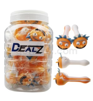 """Kit: HPSL11 Silicone 4.5"""" Spoon Face W/ Crazy Hair 20ct"""