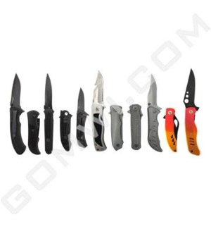 DISC Knife Folding Spring Assorted Stainless Steel Blade