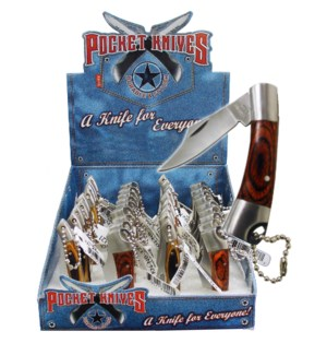 DISC Knives Wooden Handle  36ct/12cs