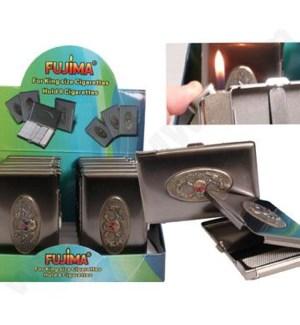 DISC Cigarette case King w/Lighter & emblem 12PC/BX