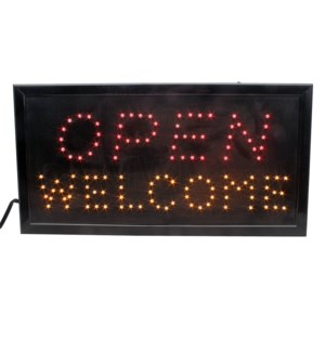 LED/SIGN OPEN WELCOME