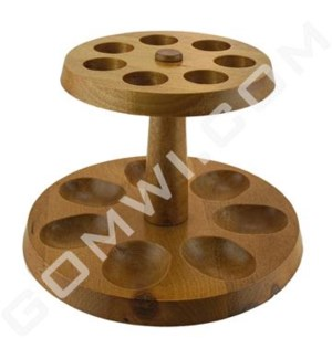 DISC  Pipe Display Wood single stand