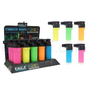 "Eagle Pocket Torch 4.25"" w/Adjust. Flame Neon Lighter 15PC/BX"