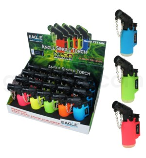 "Eagle Pocket Torch - 3"" Neon Assorted Lighter 20PC/BX"