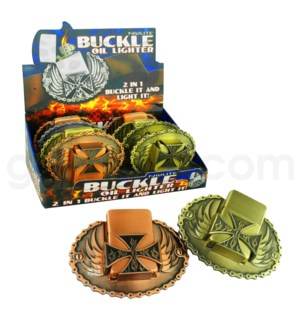 DISC Nulite Lighter Buckle Oil: Chopper Cross  8/12/96