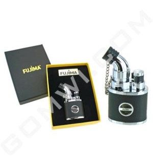 DISC Fujima Table Torch Lighter: 45 Degree Skin - Silver