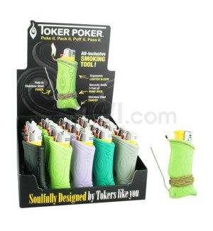Toker Poker w/Display Assorted Colors 25CT/BX