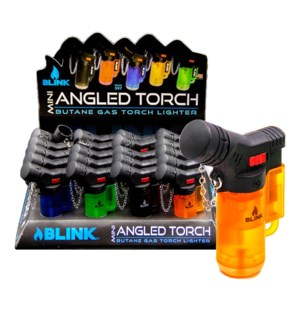 "Blink Pocket Torch - 3.25"" Angled Torch Asst Lighter 20PC/BX"
