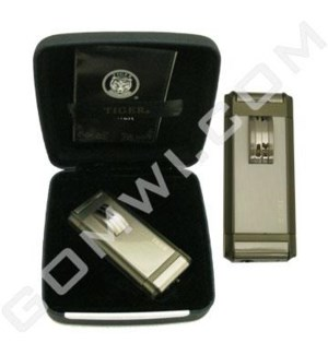 DISC Tiger Lighter High End  Triple torch w/Gift Box