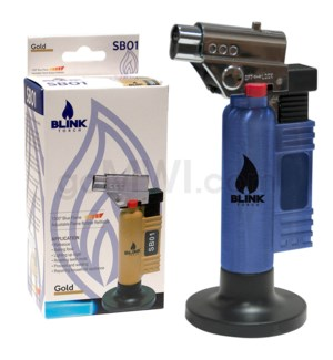 "Blink Table Torch - 6"" SB01 w/Adjust. Flame - Blue"
