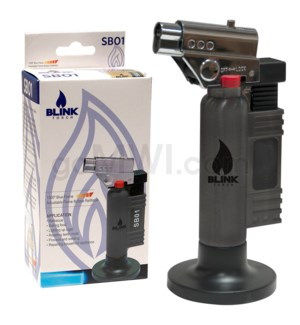 "Blink Table Torch - 6"" SB01 w/Adjust. Flame -Black"