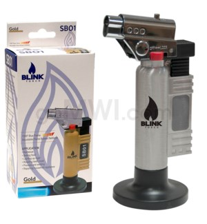 "Blink Table Torch - 6"" SB01 w/Adjust. Flame - Silver"