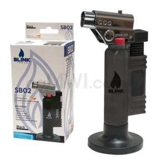 "Blink Table Torch - 6"" SB02 w/Adjust. Flame - Black"