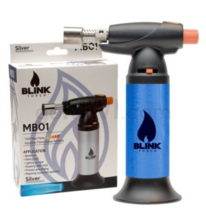 "Blink Table Torch - 6.25"" MB01 w/Adjust. Flame - Blue"