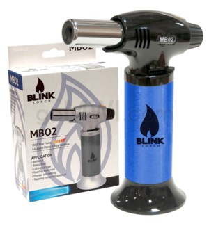 "Blink Table Torch - 6.25"" MB02 W/ Adjust. Flame - Blue"