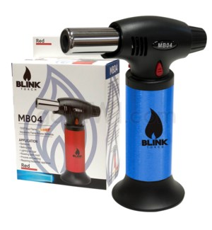 "Blink Table Torch - 6.25"" MB04 w/Adjust. Flame - Blue"