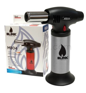 "Blink Table Torch - 6.25"" MB04 w/Adjust. Flame -Silver"